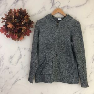 Columbia Full Zip Hooded Cardigan Sweater